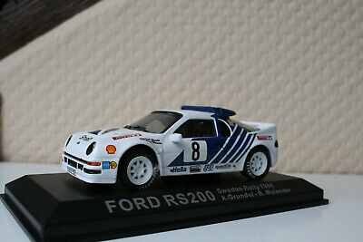 voiture miniatures de rallye - FORD RS200 Gr B SUEDE 1986