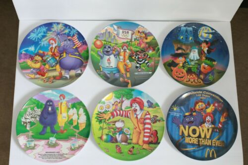 RARE Vintage McDonalds Collector Plates  1989 1995 1996 1998 2001 2002