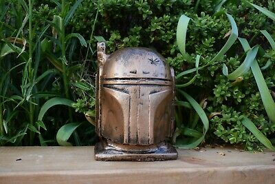 Star Wars Boba Fett Reconstituted Stone Garden Ornament Bronze  -Free UK P&P