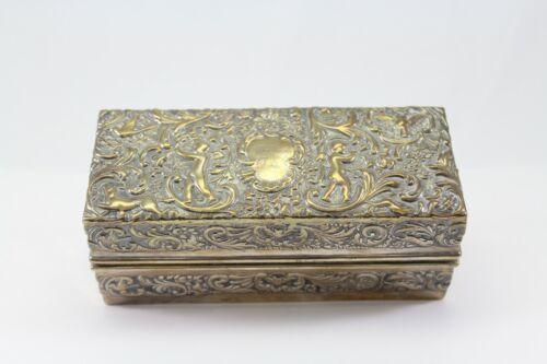 Antique Vintage Sterling Silver Trinket Box Goldsmiths & Silversmiths Co #100551