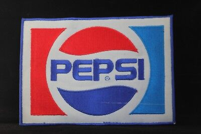 "VINTAGE PEPSI COLA PATCH RETRO CLASSIC SEW ON FABRIC JACKET 8"" x 5 4/5"" CLASSIC"