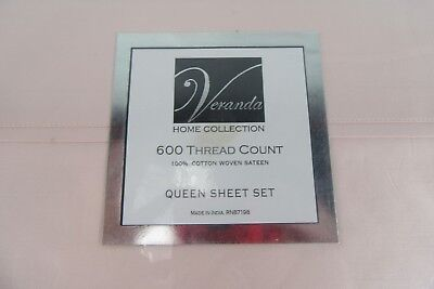 Home Collection Veranda 600 Thread Count 100% Cotton Woven Sateen Queen sheet