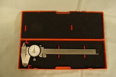 Starrett 120a-6 Stainless Dial Caliper 0-6 White Dial Face Machinist Tool