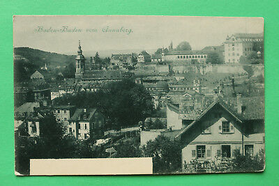 AK Baden Baden 1900 Ortsansicht Annaberg Gebäude Häuser Garten Kirchen W8 ()
