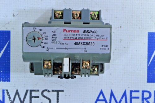 FURNAS 48ASX3M20 SOLID STATE OVERLOAD RELAY W PHASE LOSS CIRCUIT