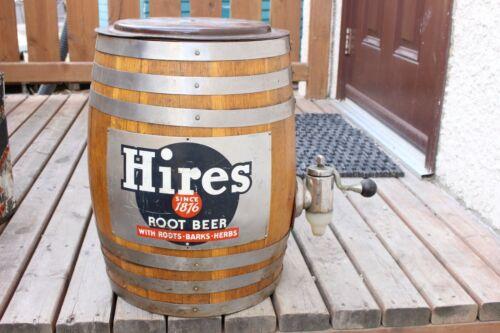 Vintage Hires Root Barrel Dispenser Wood Keg Advertisement Sign Advertising