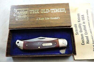 Vintage SCHRADE USA Old Timer 1230T 123 OT Pioneer Pocket Knife Saw Cut Delrin