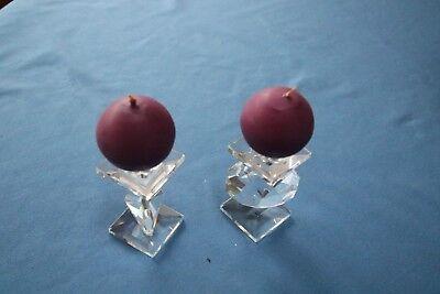 Pair of Swarovski  Candlesticks
