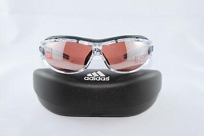 Adidas a127 6079 Evil Eye Pro S Race Transp/DarkBlue mit Wechselscheiben
