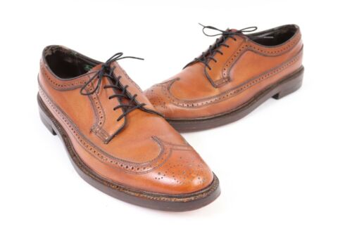 Vintage FLORSHEIM IMPERIAL Leather Wing Tip Oxford Dress Shoes USA Mens 14 AA