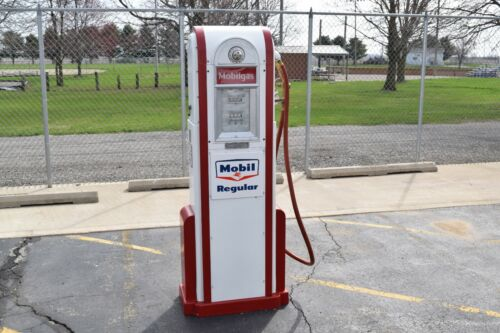 """Antique 1937 Wayne 60 Mobil Gas Pump (76"""" Tall) – Awesome Piece!"""
