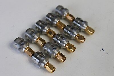 Hubersuhner Rp-sma-male To N-female Coaxial Adapter Connector Lot Of 10