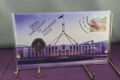 2013 PNC 20c + 60c Stamp 25th Anniversary of Parliament House  Ltd 15000 Anniversary House Ltd