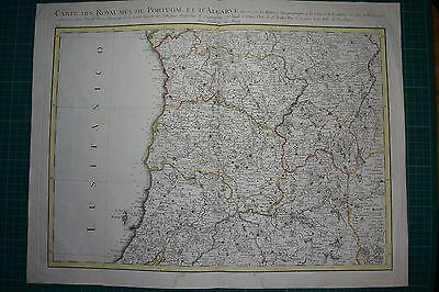 Nord Portugal - Oporto historische Karte, Kupferstich von 1775 Rizzi-Zannoni