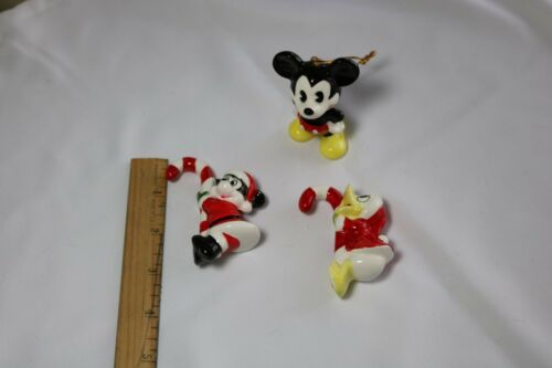 Vintage Mickey Mouse and Donald Duck Christmas Ornaments
