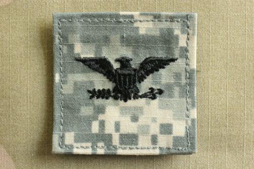 US NAVY USN IA O-6 CAPTAIN RANK ARMY ACU HOOK BACK CAMOUFLAGE CAMO UNIFORM PATCH