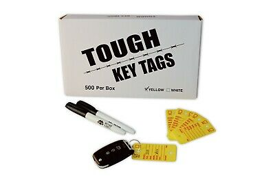 Car Dealer Key Tags Tough Poly Rigidene Style Survivor Ez400 Tags Yellow