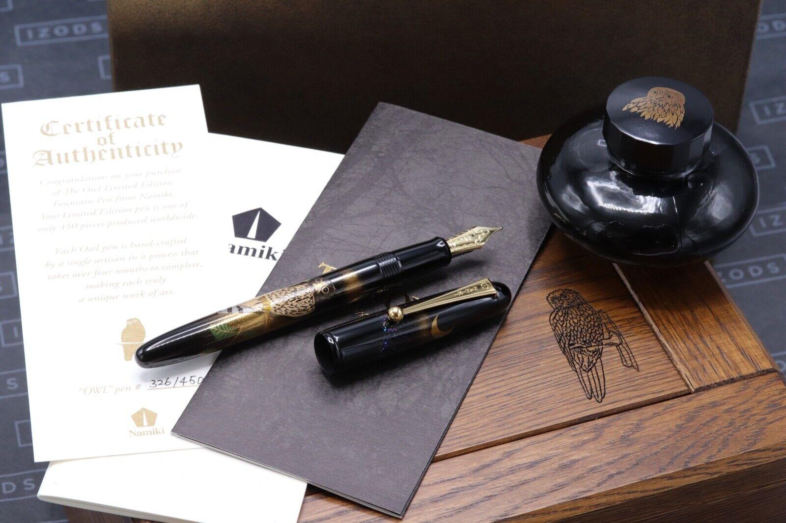 Namiki Yukari The Owl Masato Sato LE Maki-e Fountain Pen - UNUSED
