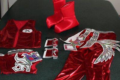 KIDS SUIT 6-10 year LYCRA KALISTO RED FANCY DRESS COSTUME OUTFIT CHILDREN niños