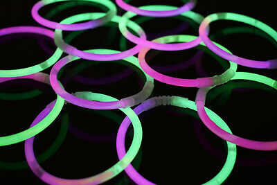 Pink Glow Bracelets (DirectGlow 200ct Green/Pink Glow Bracelets Glow in The Dark Party)