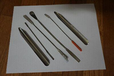 6 Pcs Dental Cement Spatula Laboratory Mixing Scraper Set Ss Spoon Lab Metal Aq