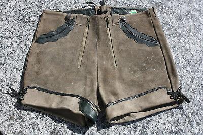 Deutsch Lederhosen (Schöne kurze deutsche Vintage Lederhose in H >46)