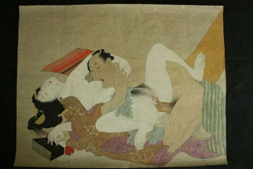 JAPANESE EROTIC SHUNGA  EROTIC PAINTING PRINT