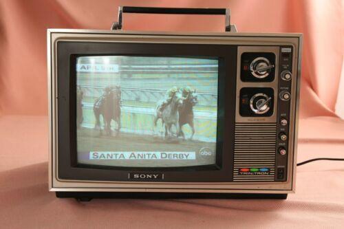 Vintage 1970`s SONY Trinitron Color Television TV Receiver KV-1203