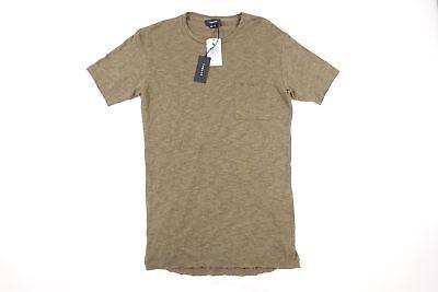 TWENTY Marca Verde Militar Pequeño Suave Bolsillo Camiseta Hombre Nwt Nuevo