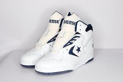 0496d5218c0d Vtg 90s New Converse Mens 6.5 Cons 500 Classic Hi Basketball Shoes White  Navy