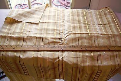 Vtg 100% Golden Silk Fabric Pillow Antique Queen Anne Doll Crafts