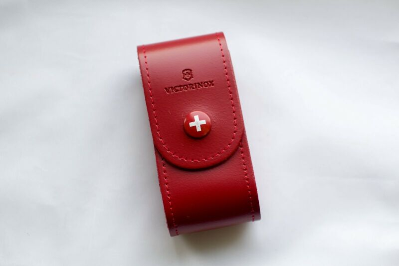 Victorinox Leather Belt Pouch 4.0521.1 for 91mm, 5-8 layers Folding Knife