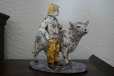 Polychrome Fayence-Figurengruppe, wohl Niederlande, Ende 18.-Anf.19. Jh.