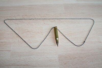 Halskette, Kette mit Anhänger Patrone  (Orig.5,56 x 45 (.223 Remington) NATO