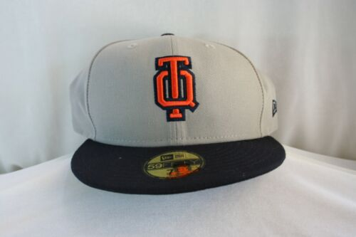 Rare New Era 59Fifty LMB Quintana Roo Tigres Gray Orange Fitted Hat 7 1/2 NWT