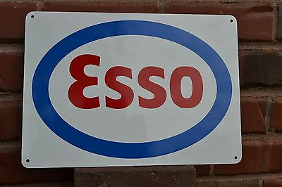 ESSO Metal Gas Station Pump Sign Standard Oil Advertising Mechanic Free Shipping