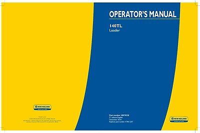 New Holland 140tl Farm Loader Tractor Operators Manual