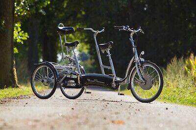 Van Raam Twinny Plus Therapeutisches Elektro Dreirad Tandem/Duo Rad Silent HT