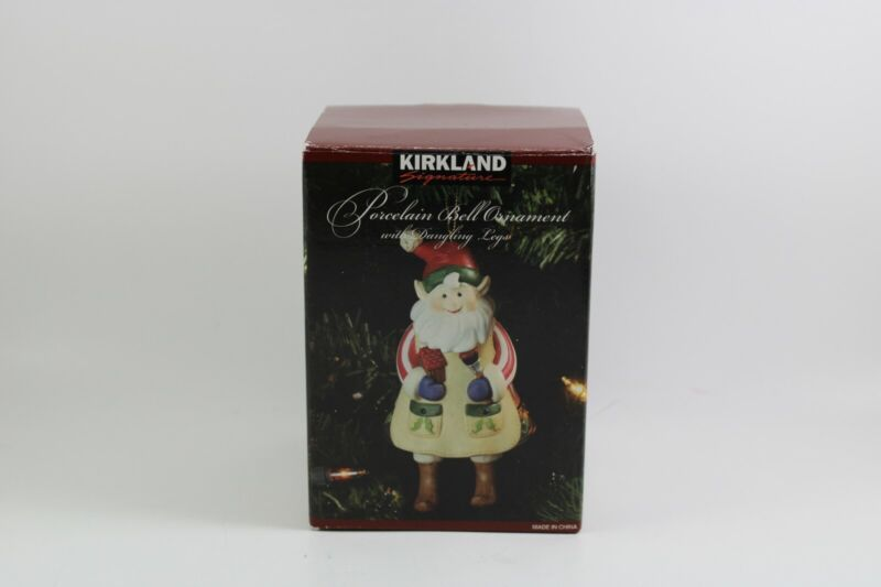 Kirkland Signature Gingerbread Elf Bell Porcelain Ornament With Dangling Legs