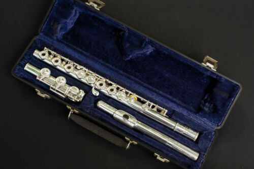 Artley Wilkins Flute, solid silver Elkhart version, restored and ready-to-play