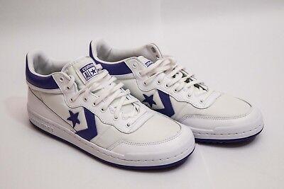 6334591b6e777d Converse Fastbreak 83 Mens Mid Top White  Purple Basketball Shoes 156972C  Sz 10