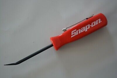 snap on tools promotional mini pocket clip pry bar red handle small new tool