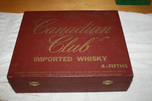 "Vintage Canadian Club 4 - Fifths"" Carrying Case Box 1950s/1960"