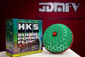 HKS 80mm Turbo Air Inlet Filter GREEN JDM Super Power Flow Reloaded CAI 3