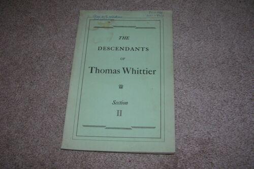 Descendants of Thomas Whittier New England, 7th Generation Genealogy