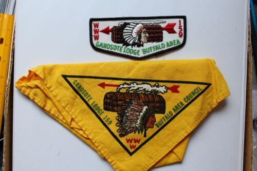 Vintage BSA Boy Scouts Order of the Arrow 159 HO-DE-NO-SAU-NEE Neckerchief /A63