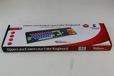 Coloured Upper and Lowercase USB Keyboard - BCL LK810DL