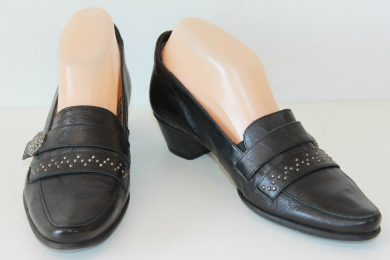 Court shoes DORKING Black Leather T 37 VERY GOOD CONDITION