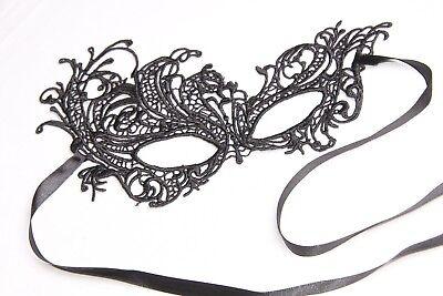 Sophisticated Halloween Decorations (Elegant & Sophisticated Black Lace Masquerade Ball Decorative Eye Mask)