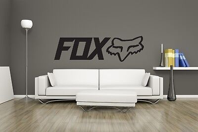 Huge Fox Racing MTB Motorcycle Bike Decal Wall Art / Man Cave